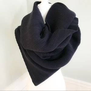 🆕 Navy Ribbed Stretchy Long Scarf